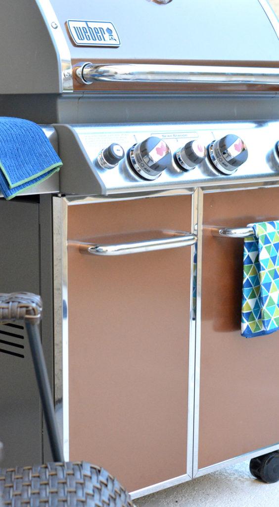 copper weber grill
