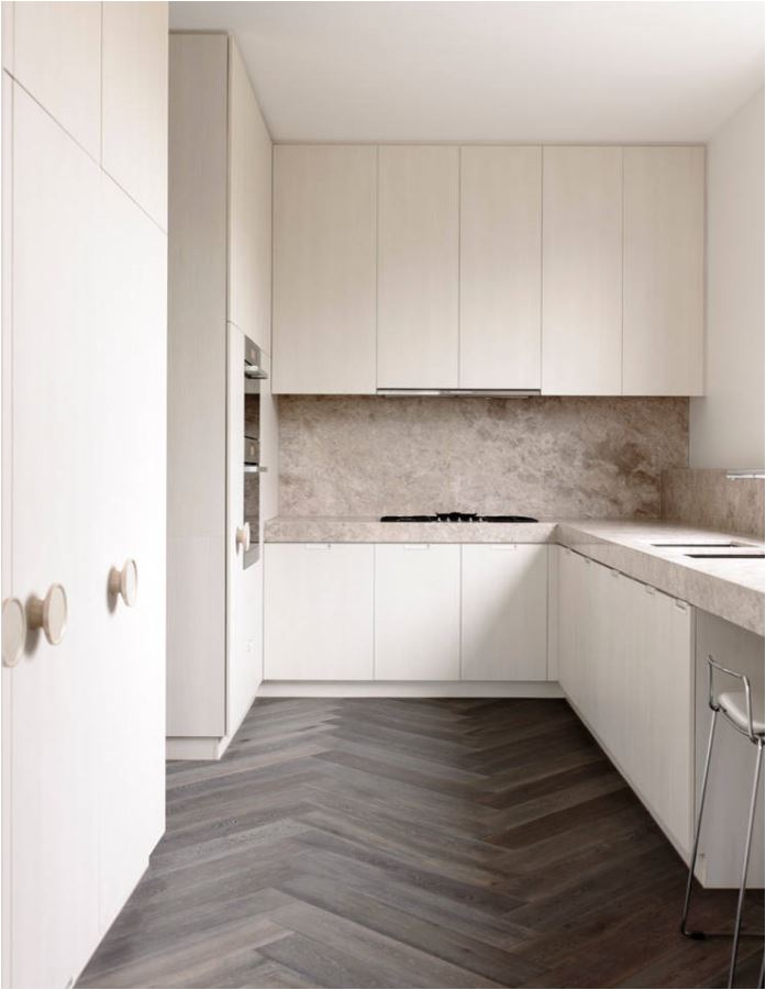 herringbone kitchen floor