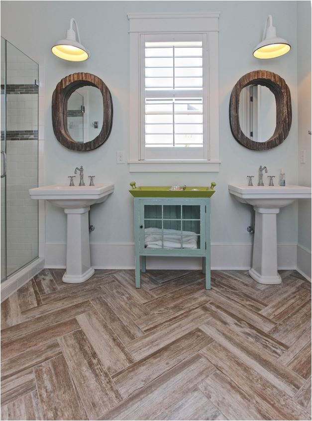 herringbone pattern floor