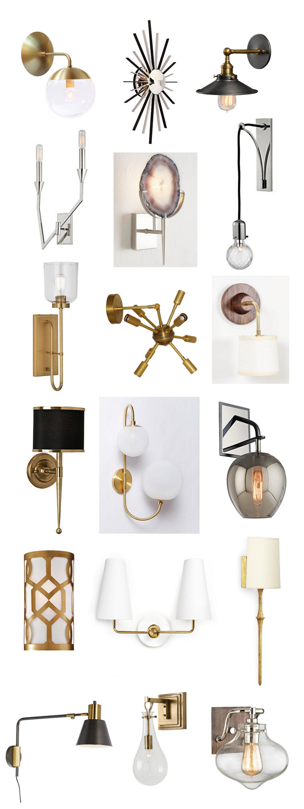 stylish wall sconces