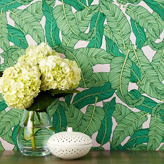 banana leaf removable wallpaper