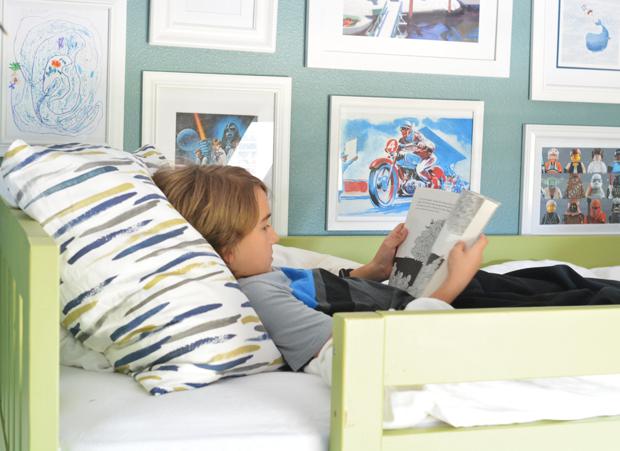 boy bed pillow