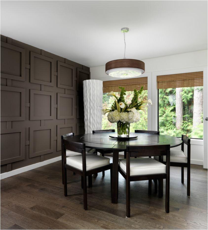 dark brown wall treatment