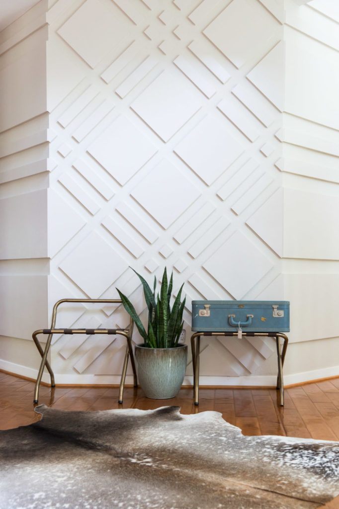 graphic geometric wall treatment