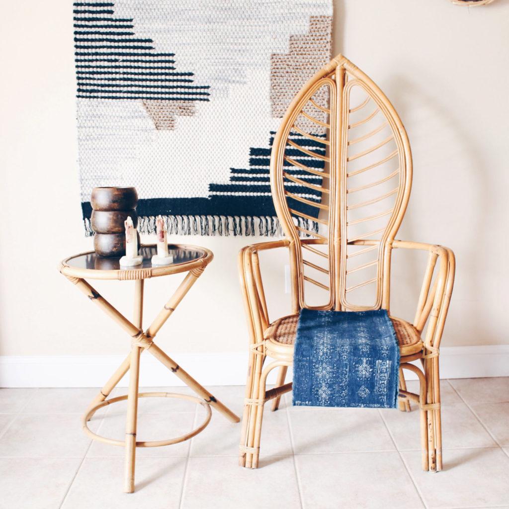rattan leaf chair