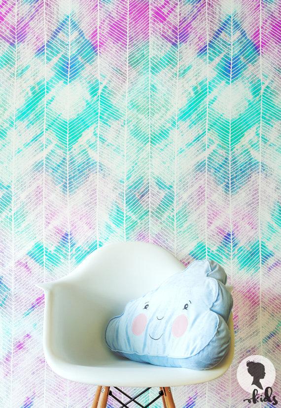 watercolor herringbone