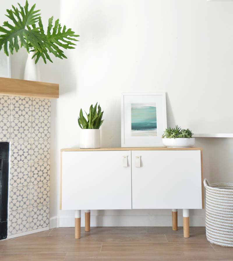 DIY Wood + White Console