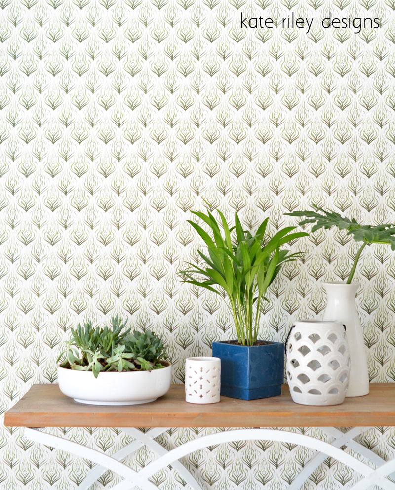 kate riley seaweed kelp wallpaper