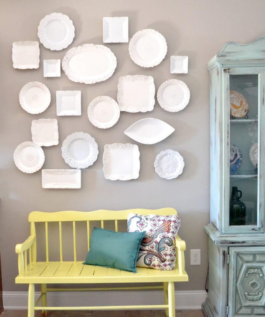 white plate wall liz marie