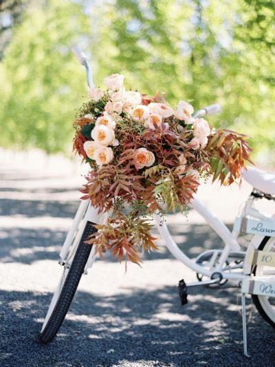 fall floral bike