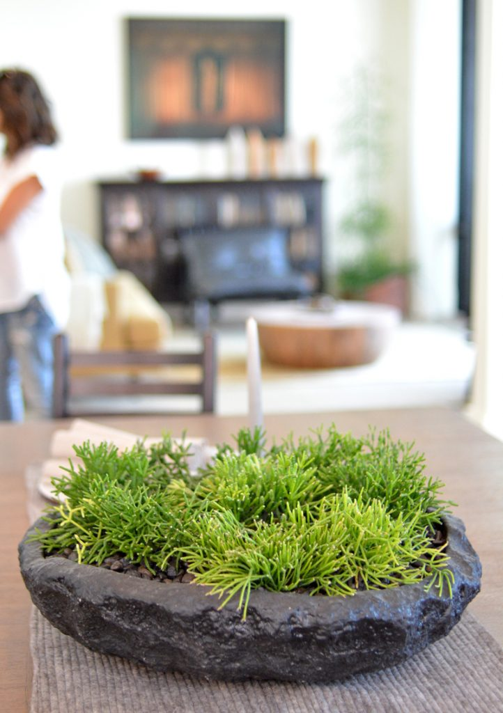 living table centerpiece