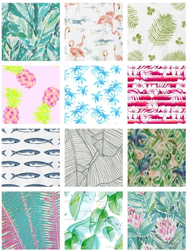 modern tropical fabric