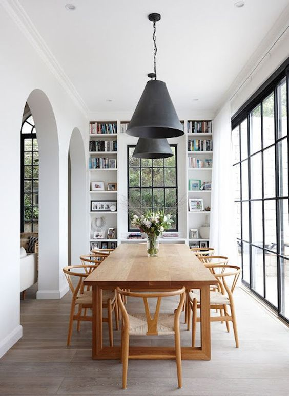 wishbone chairs dining room