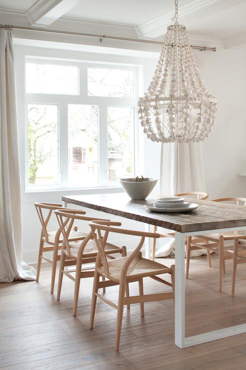 wood wishbone chairs