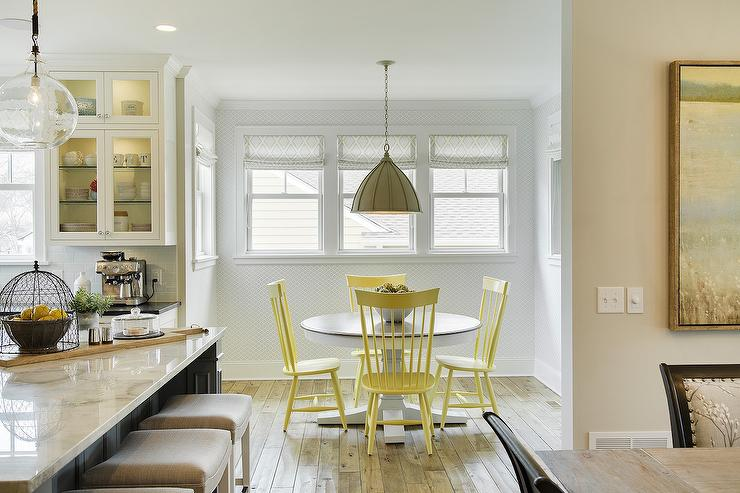 yellow windsor chairs