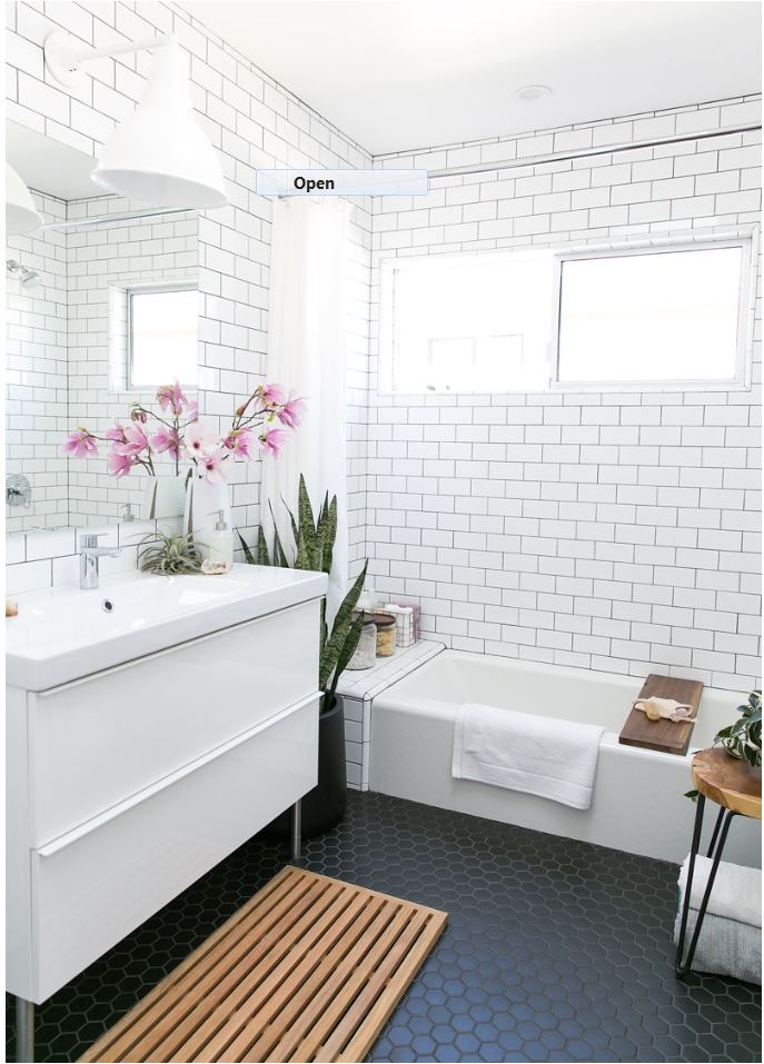Hexagon Bathroom Floor Tile | Centsational Style