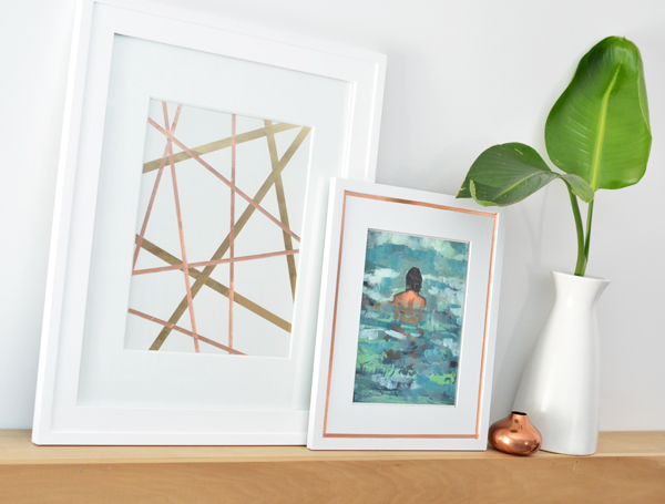 copper tape framed art 2