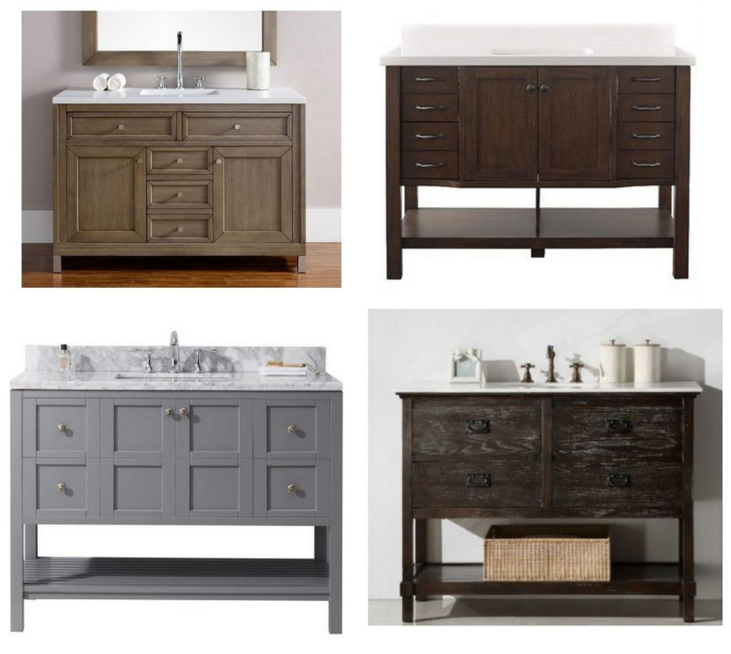 hall bathroom vanities