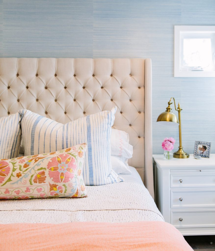 tufted headboard bedroom