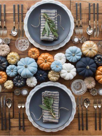 multicolored mini pumpkins