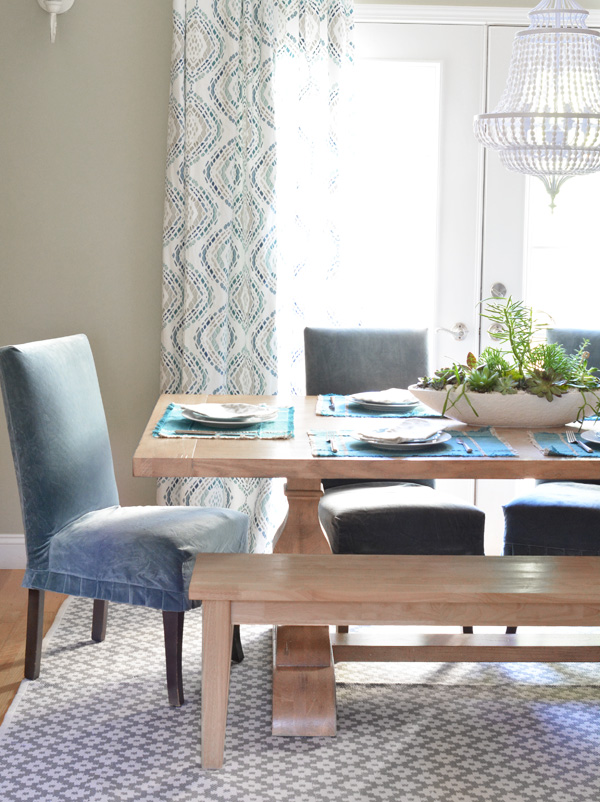 parsons chairs farmhouse table