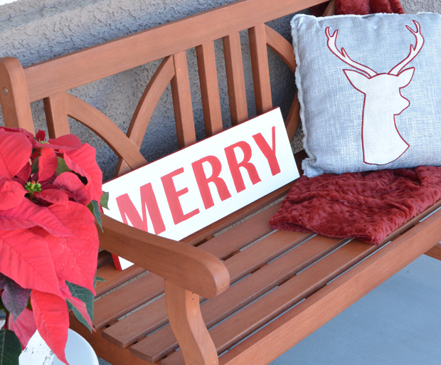 merry-sign-on-wood-bench