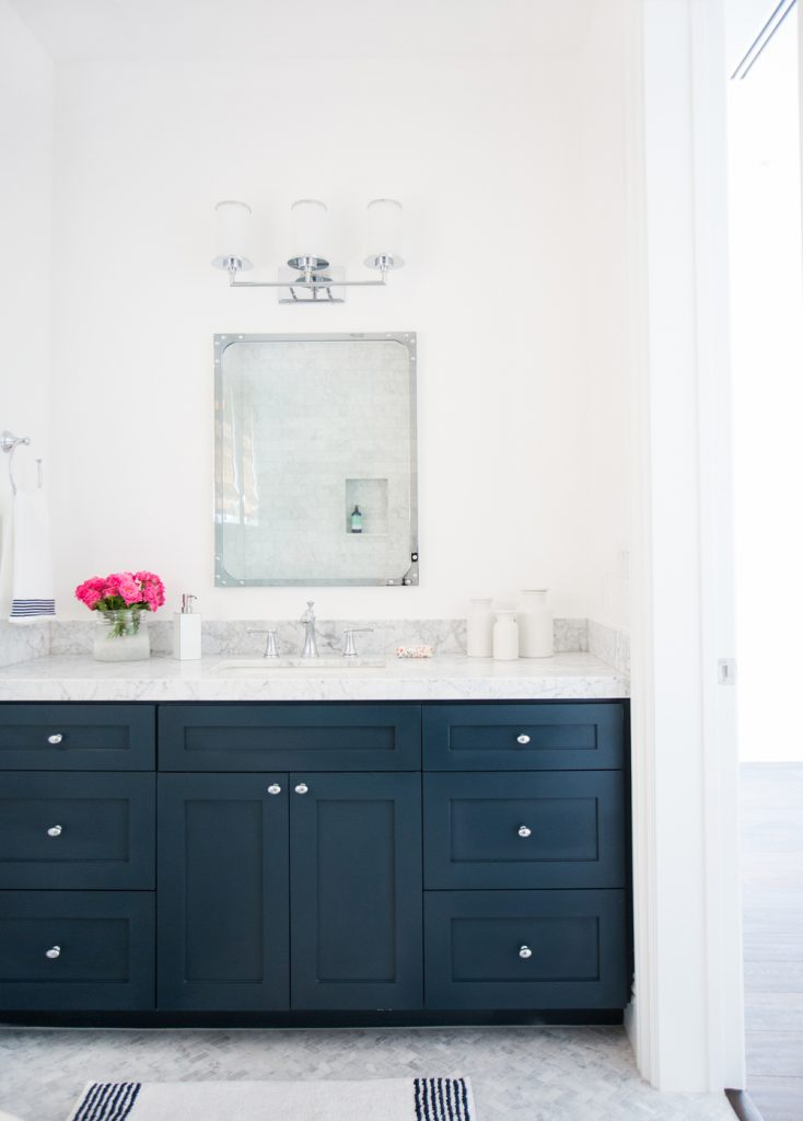 Blue Painted Bath Vanities Centsational Style