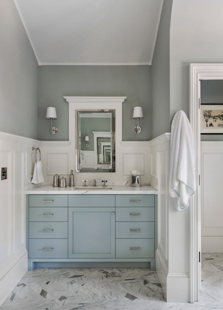 Blue Painted Bath Vanities Centsational Style