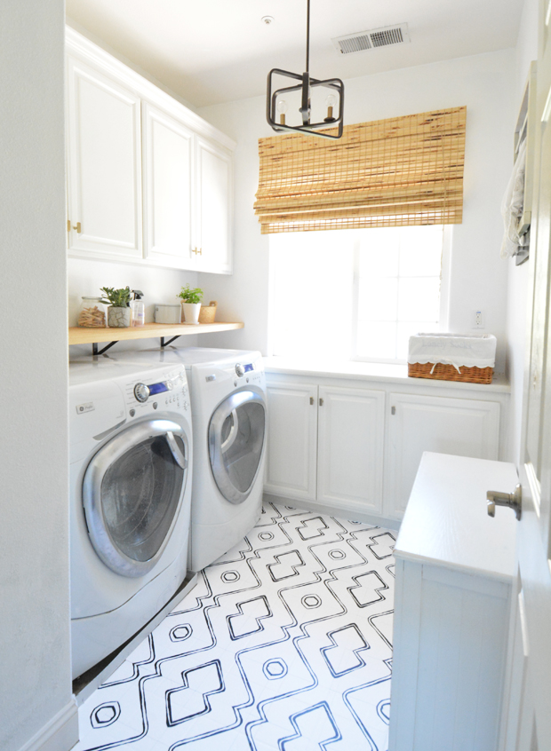 How To Hide An Ugly Floor Laundry Room Refresh Centsational Style