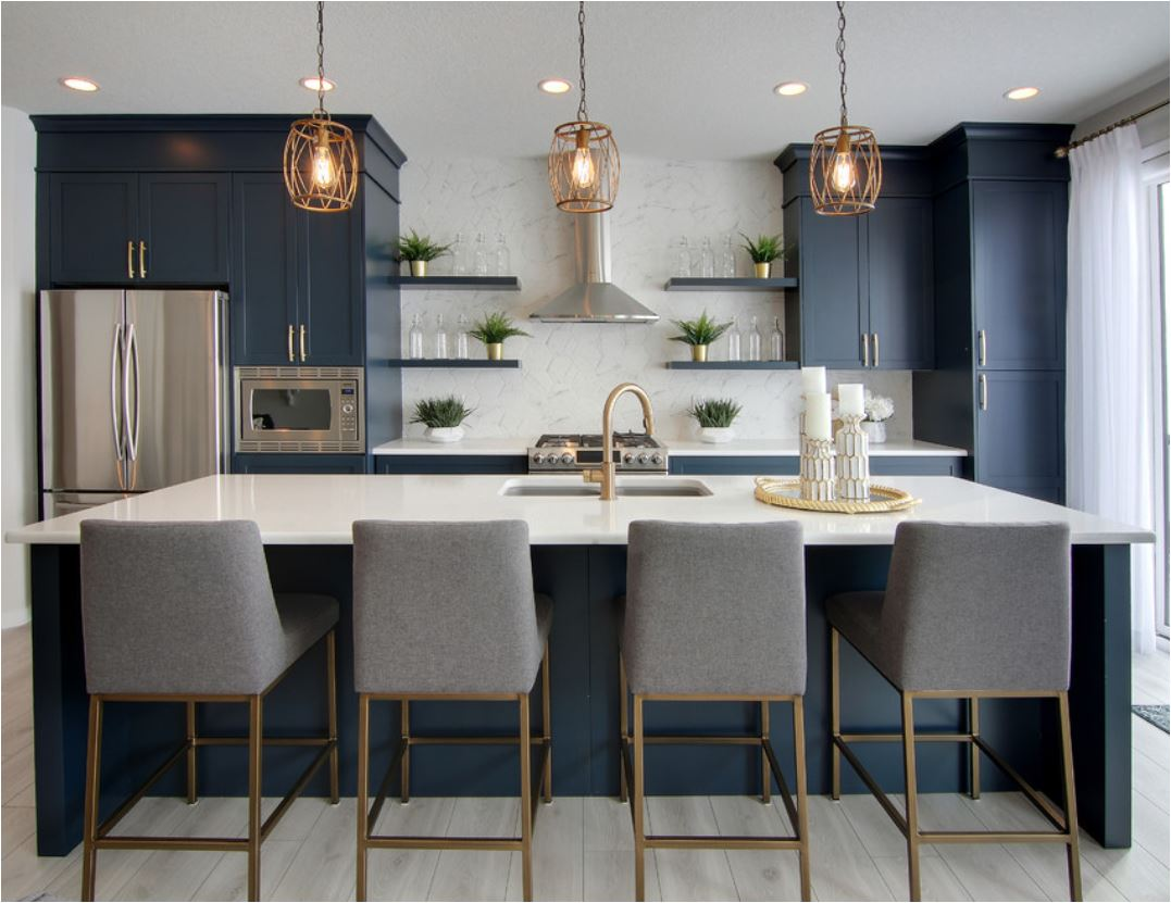 Forever Classic Blue Kitchen Cabinets Centsational Style