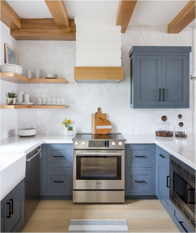 Kitchen Decor With Black Appliances: Forever Classic: Blue Kitchen Cabinets