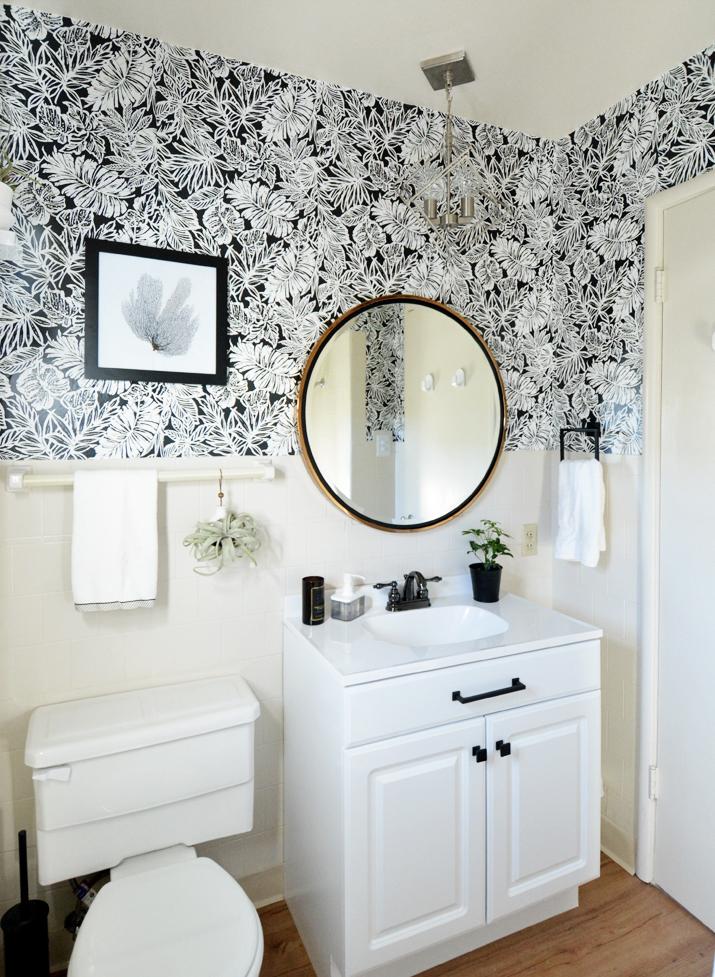 Black White Bathroom Makeover Centsational Style
