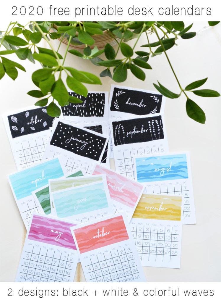 2019 2020 Mini Desk Calendar For School