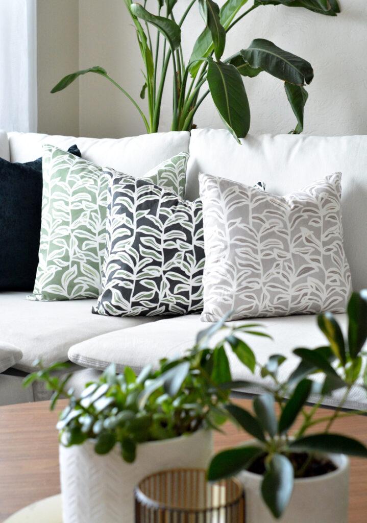 Summer Vine Print Diy Pocket Pillow Covers Centsational Style
