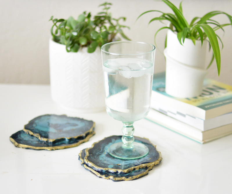 Diy Agate Resin Coasters Centsational Style