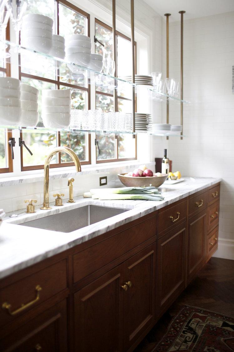 kitchen design alternatives for upper cabinets