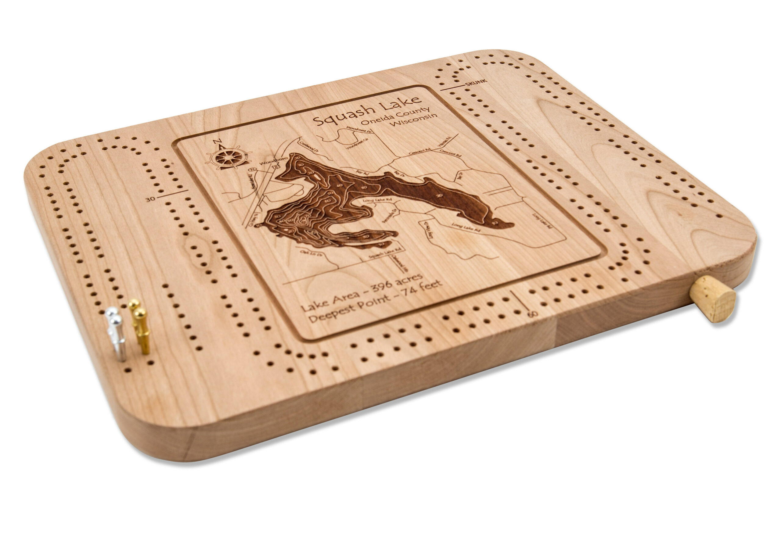 cribbage board scaled