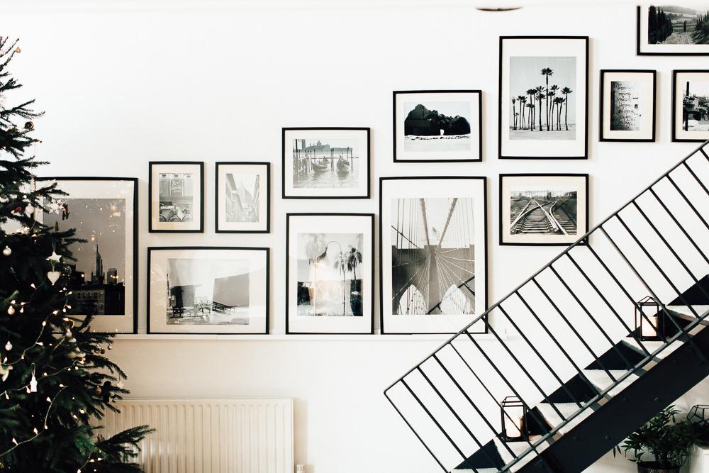 bw art gallery stairs