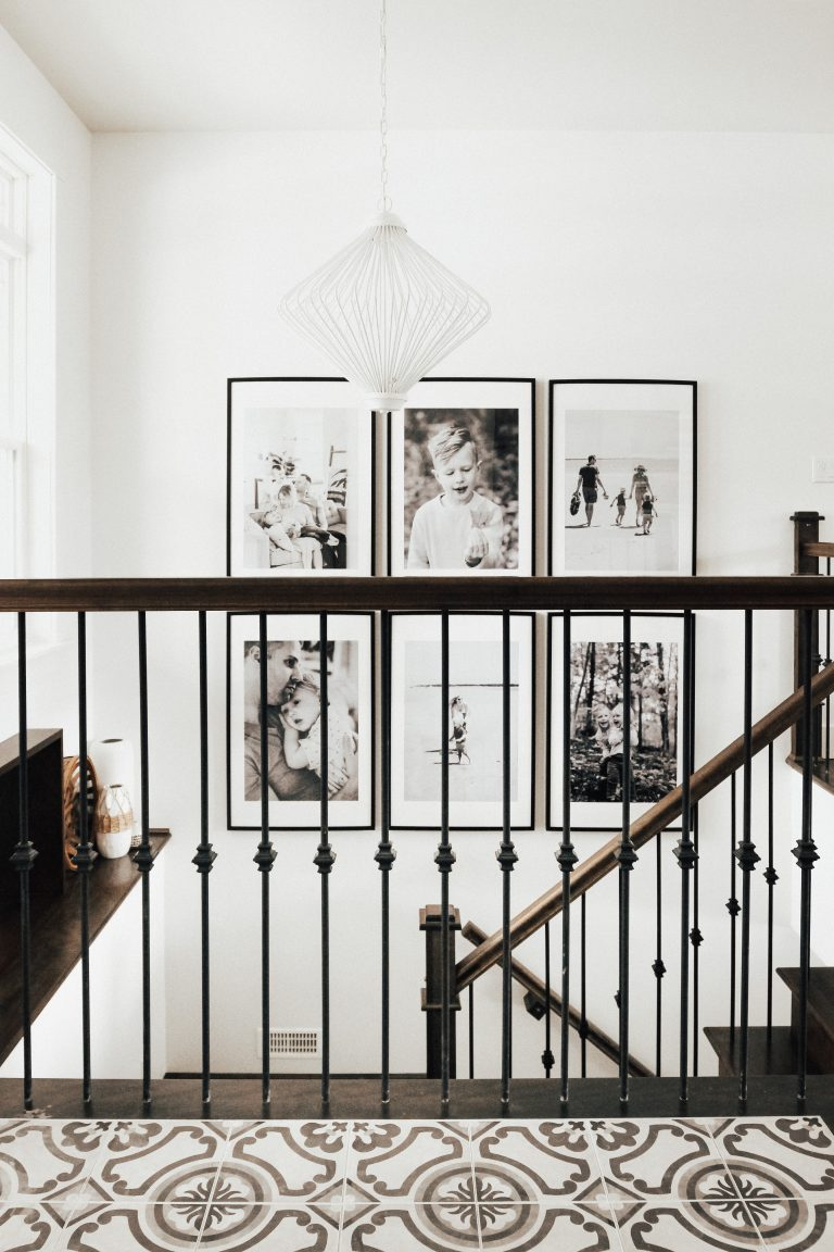 grid gallery staircase