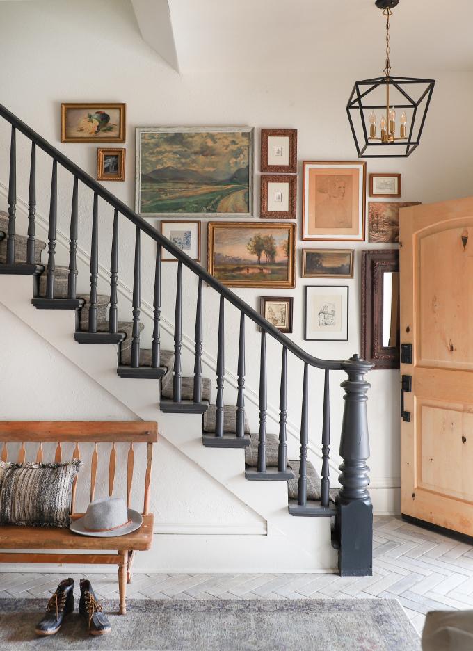 vintage art staircase