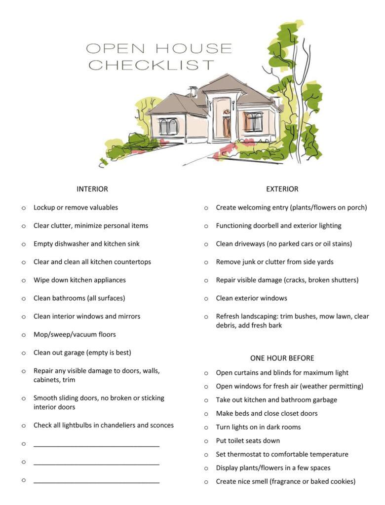 open house checklist image