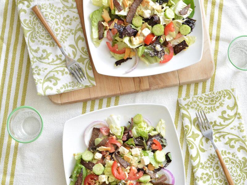 Easy Greek Gyro Salad
