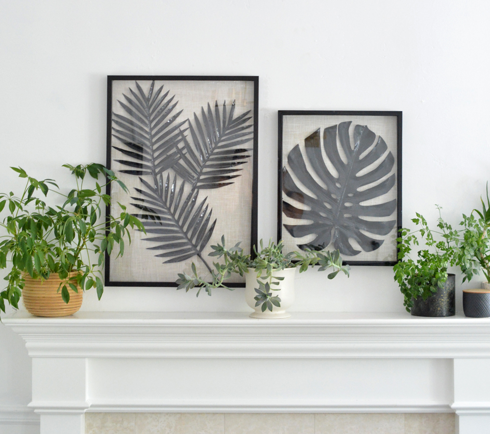 Palm Print Shadow Box Art